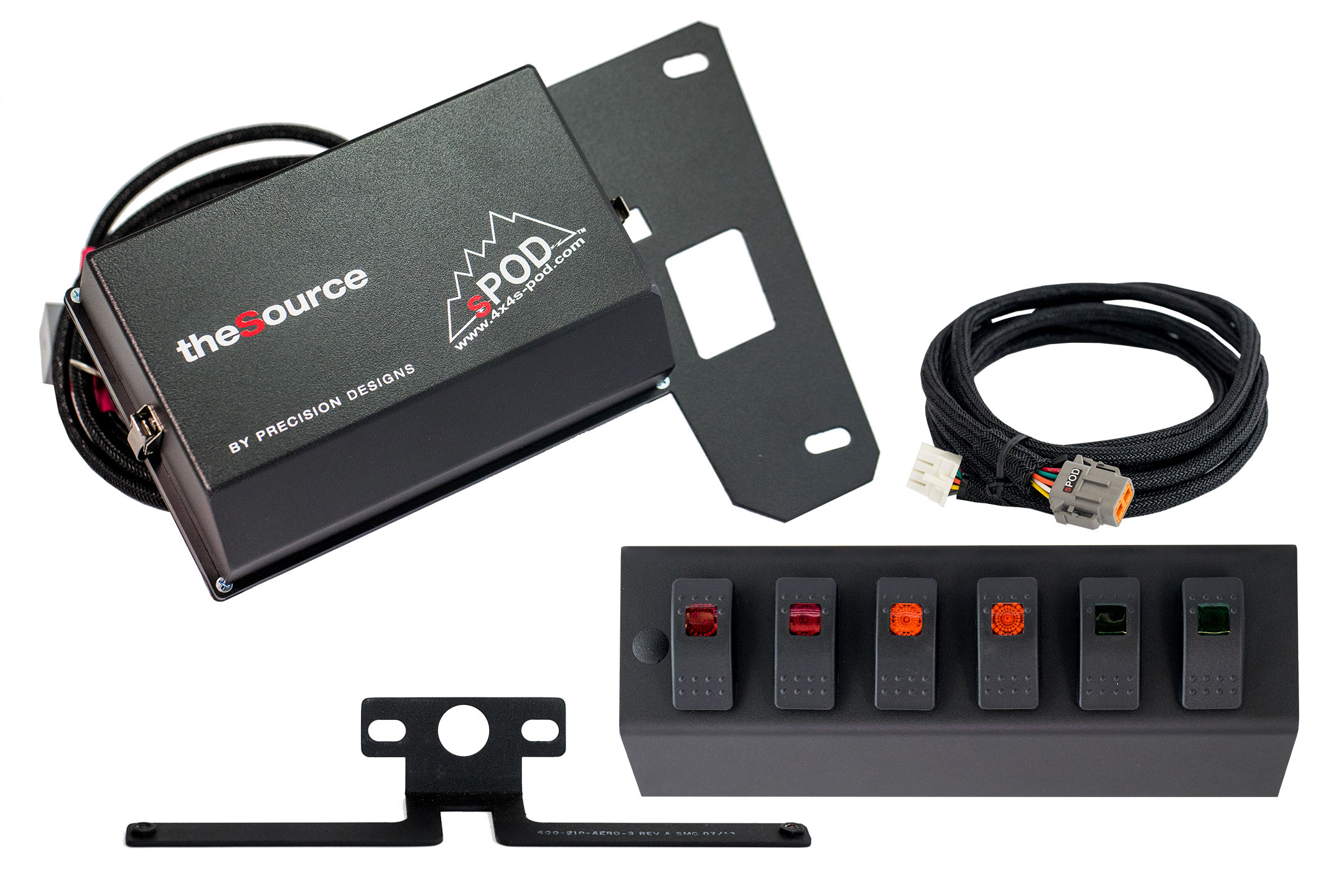 6 Switch Panel For 07 08 Jeep Wrangler Jk 4x4 Spod Tj Rubicon Fuse Box View The Full Image