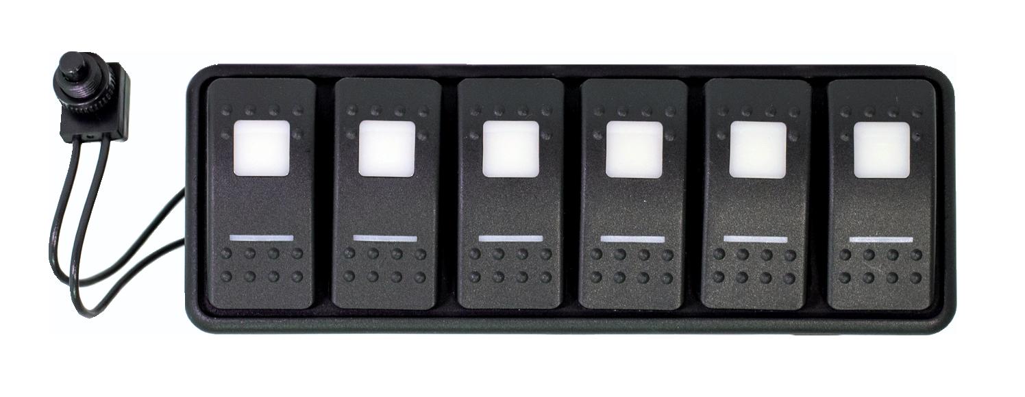 Universal Modular 6-Switch Dual Lit LED Panel w/ 36 Inch Battery ...